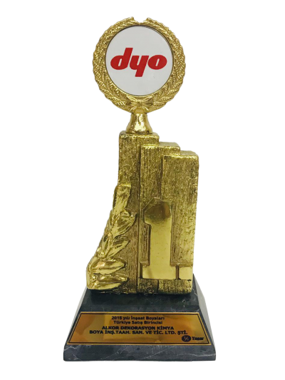 DYO 2015 Yılı İnşaat Boyaları Türkiye Satış Birinciliği Plaketi